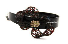 MIMCO ELECTRO LACE BOW ALICE HEAD BAND IN JET METALLIC BROWN BNWT RRP$99.95
