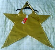 Christmas Gold Star Fancy Dress Up Costume Nativity/School/Nursery Play One Size