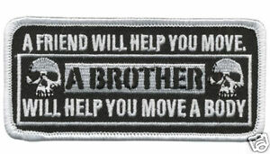 BIKER TWO SKULLS BROTHER Patch  4 inch MC BROTHER PATCH
