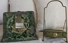 Antique Victorian Photo Album w/ Stand Featuring Liberty Bell and 3 Photos