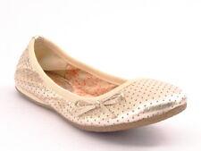 New REPORT Women Leather Silver Casual Soft Flat Slipper Dress Shoe Sz 7.5 M