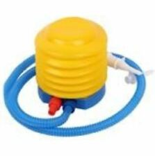 Air Pump Plastic Manual Air Pump Inflator with Long Flexible Hose Blue Yellow To