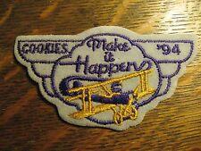 Otis Spunkmeyer Cookies Vintage Airplane 1994 Embroidered Sewn Jacket Patch