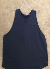 CARIN WESTER SWEDEN Navy Cotton Long Singlet XS