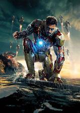 Robert Downey Jr as Iron Man Poster   A4 260GSM