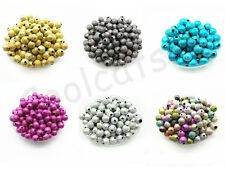 4mm, 6mm, 8mm ,10mm Metallic Glitter Acrylic Stardust Round Spacer Loose Beads