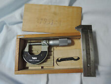 Vis Micrometer Made In Poland Machinist Tool Withwood Box