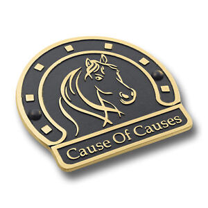 Personalised Brass Stable Plaque. Heavy Duty Cast Name Plate