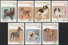 Nicaragua 1987 Spaniel/St Bernard/CANI/ANIMALI/natura di lavoro 7 V Set (s2623)