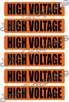 High Voltage Labels & Conduit Markers | Stickers | Decals Electrical 6x Volts