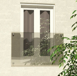 Venini Floating CLEAR Glass Juliet Balcony - Huge Range - FREE DELIVERY*