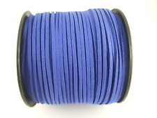 5/100 Yards 2.5mm Faux Suede Cord Flat Leather Cord Bracelet Necklace Rope DIY