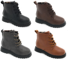 New Baby Toddler Girl And Kids Lace Up Ankle Boots Shoes Size 4-12