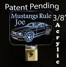 Ford Mustang Personalized  LED Night Light - Kids Lamp, Man Cave, night light