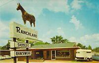 LA Shreveport RANCHLAND Saddles & Ranchwear 2800 Jewella MINT postcard B2