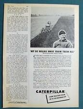 Orig 1955 Caterpillar D2 Photo Ad Features David Fenstermaker of Marion Indiana