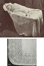 Knitting Pattern- Gorgeous Vintage baby 2 ply shawl Pattern to knit
