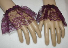 Mens Victorian,  Georgian, steampunk purple lace cuffs fancy dress costume