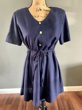 Maternity Top Shirt Blouse by Dan Howard Navy Blue Size Small Dressy NEW JUN2020