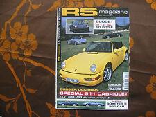 RS MAGAZINE N°3 07-08/2001 PORSCHE 911 CABRIOLET BOXSTER S 996 CAB  J32