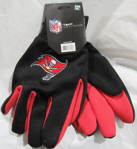NFL Tampa Bay Buccaneers Colored Palm Utility Gloves Black w/ Red Palm by FOCO