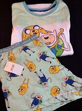 Adventure Time Cartoon Network 2 Pc. Pajama Set Adult Size Large Brand New W/tag