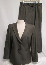 Tahari Woman's Striped pant Suit Brown Size 12