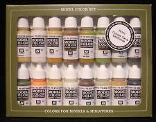 Vallejo Modelo Color 70.141 Tonos Tierra Conjunto de pintura de color 16x17ml Acrílicos
