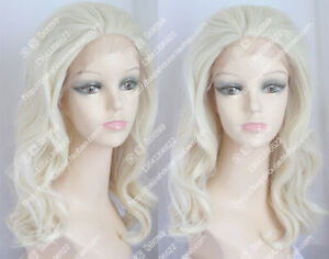 High Quality Wig European American Wigs Light Blonde Curly Hair Lace Front Wig