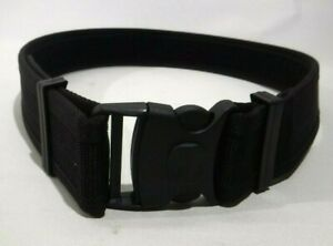 "Genuine Ex Police 2"" Wide Black Nylon Duty Belt Uniform Security Theatre Costume"
