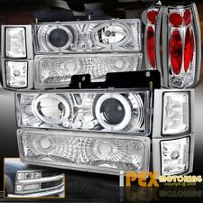 94-98 GMC Yukon Sierra [10PC] Halo Projector LED Headlights + Signals+Tail LIght