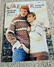 """Nordic style sweaters by Jaeger in Chunky yarn to fit 34""""-42"""" chest"""