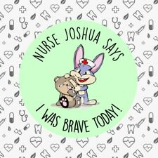 Personalised I Was Brave Today! 35x Bravery Doctor 30mm Well Done Stickers 285