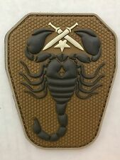 SCORPION Unit Tactical Army ISAF ACU Airsoft Paintball Morale 3D PVC Hk/Lp Patch