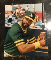 DAVE PARKER AUTOGRAPHED SIGNED AUTO BASEBALL PHOTO 8x10 A'S