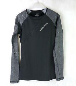 Womens NIKE PRO LIVESTRONG Running top Size S UK 8-10 Hyperwarm Shirt Long sleev