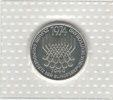 1974 F WEST GERMANY CONSTITUTIONAL LAW SILVER PROOF 5 MARK