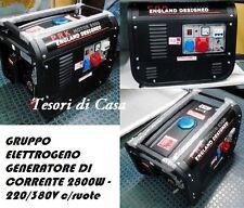 Gruppo elettrogeno/Generatore di corrente 2300W - 220/380V c/ruote