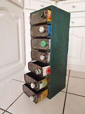 ancien meuble de rangement- tiroirs- indus-étagère cube- garage-bidons d'huiles