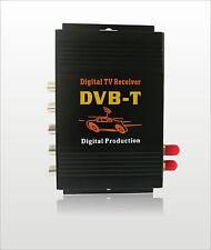 Car Mobile DVB-T MPEG-4 Double 2 Tuner Digital TV Receiver Box  Israel Russian