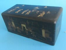 Antique Chinese Lacquer Tea Caddy 19th century boite a the chinoise