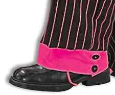 Jazzy Pink Gangster Spats 20's Fancy Dress Up Halloween Adult Costume Accessory
