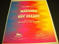 Madonna and Guy Oseary Top Tour and Top Manager 2009 Promo Display Ad mint
