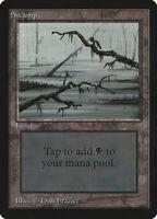 Swamp (Vers.3) - BETA Edition  - Old School - MTG Magic The Gathering