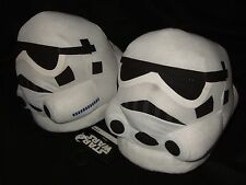 NWT Adult Large 10-11 Star Wars Storm Trooper Helmet Face Plush Slippers Disney