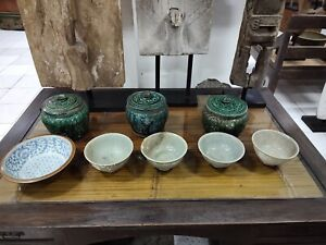 Ship wreck Celadon Qing Dynasty Bowl Jade Colour Lost at Sea Chinese Porcelain