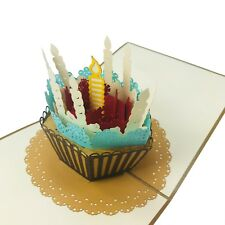Birthday Cupcake - WOW 3D Pop Up Handmade Greeting Card for All Occasions
