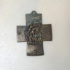 Sammlungsauflösung religiöse Volkskunst hochwertiges Kreuz Wandkreuz Bronze (29)