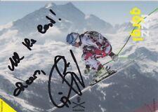ELISABETH GOERGL HAND SIGNED PROMO CARD PHOTO SKI ALPINE 1.