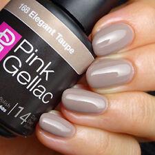 168 Elegant Taupe Grau Shellac UV LED Gel Nagellack Pink Gellac 15 ml NEU